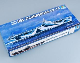 Сборная модель Американский авианосец USS TICONDEROGA CV-14