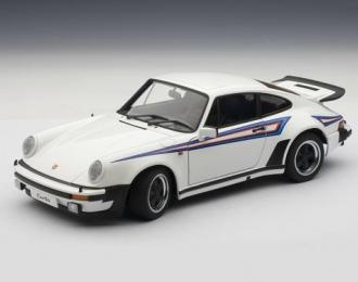 PORSCHE 911 (930) 3.0 TURBO 1976, (WHITE W/ MARTINI STRIPES