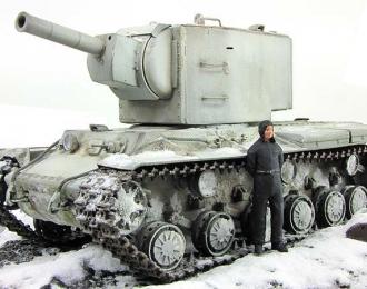 Танк КВ-2, зимний камуфляж