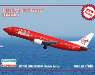 Сборная модель Авиалайнер 737-400  Virgin Express