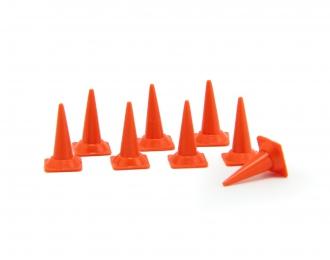 Набор дорожных конусов (средние), 8 шт, оранжевый