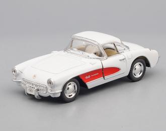CHEVROLET Corvette (1957), white / red