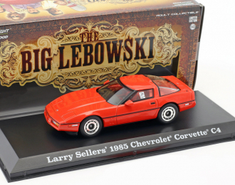"CHEVROLET Corvette C4 1985 машина Ларри Селлерса (из к/ф ""Большой Лебовски""), red"
