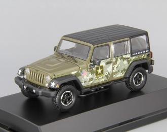 JEEP Wrangler 4x4 Unlimited U.S.Army Edition 5-дв. (Hard Top) (2014), dark green