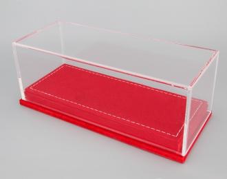 Прозрачный бокс подставка из красной бахромы (173*70*68mm)