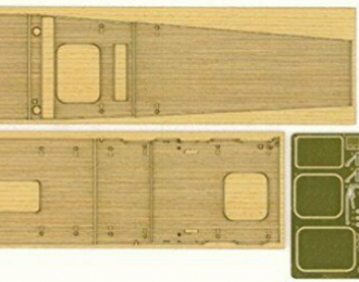 Набор для доработки WOODEN DECK FOR 49227-1 AIRCRAFT CARRIER AKAGI