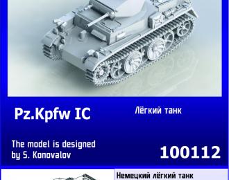 Сборная модель Немецкий лёгкий танк Pz.Kpfw. IC