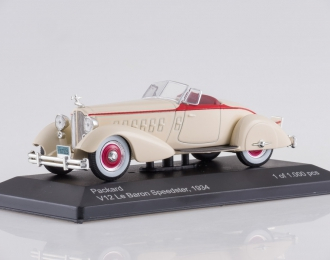 PACKARD V12 Le Baron Speedster (1934), beige / red