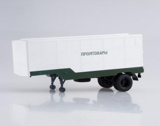 Полуприцеп ОДАЗ-794, белый / зеленый