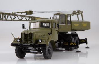 Автокран КС-4561 на базе КРАЗ-257, хаки
