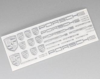 Наклейка объёмная металлизированная логотипы Porsche
