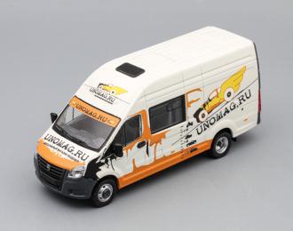 (Конверсия!) ГАЗель Next A32R32 фургон unoMAG, белый / оранжевый
