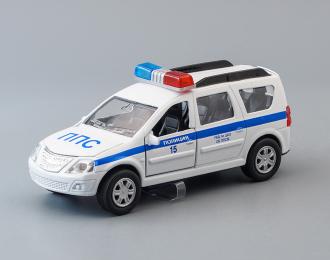 LADA Largus Полиция, white / blue + световые и звуковые эффекты
