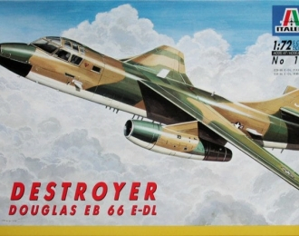 Сборная модель Американский самолет радиоэлектронной борьбы и разведки Douglas EB 66 E-DL