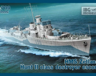 Сборная модель Британский эсминец HMS Zetland 1942г.
