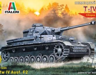 Сборная модель Немеций танк Т-IV F2