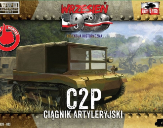 Сборная модель Артиллерийский гусеничный тягач C2P