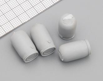 Набор пластиковых евробочек (65 литров), серый