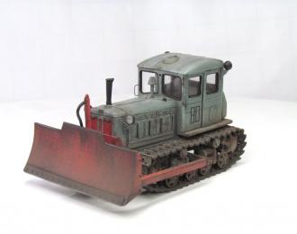 Т-74 бульдозер поздний (серый с красным отвалом)