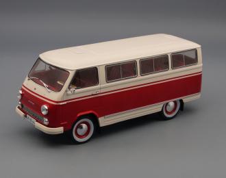 """РАФ-977ДМ """"Латвия"""", Легендарные Советские Автомобили 44, белый / красный"""