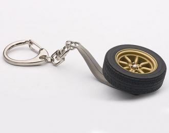 Брелок - колесо 1/18 8-SPOKES WHEEL KEYCHAIN золотистый