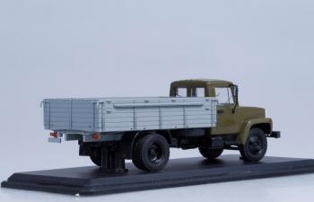 Горький 3307 двигатель ЗМЗ-513 деревянный борт, хаки-серый