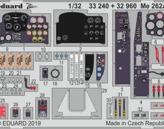 набор фототравления для Me 262A интерьер