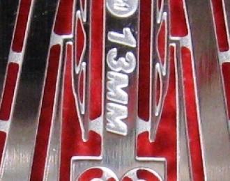 Фототравление Дворники 13мм, блестящий никель