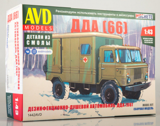 Сборная модель Дезинфекционно-душевой автомобиль ДДА (66)