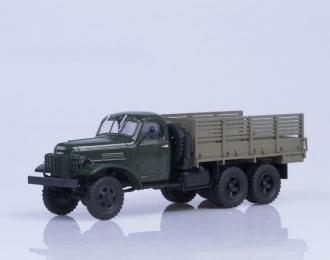 ЗИС 151 бортовой, зелёный / коричневый