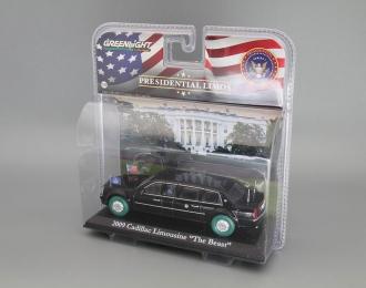 "CADILLAC Limousine ""The Beast"" президента США Барака Обамы (2009), black (Зеленые колёса!)"