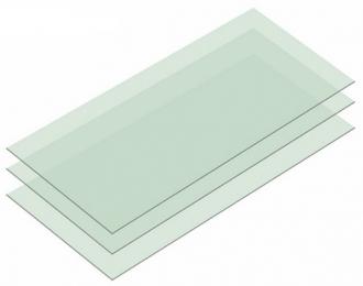 Набор шлифовальной бумаги на основе полиэстровой пленки c зернистостью 6000, 3 шт.