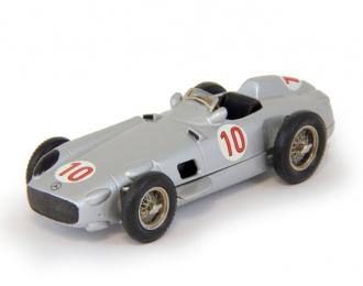 MERCEDES-BENZ W196 F1 Monoposto #10 Winner GP Belgien-Spa Juan Manuel Fangio 2nd GP Netherland Moss (1955), silver