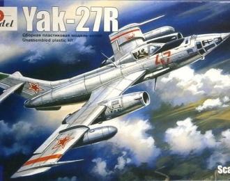 Сборная модель Советский разведывательный самолет Як-27Р