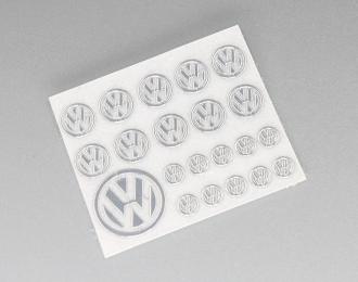 Наклейка объёмная металлизированная логотипы Volkswagen