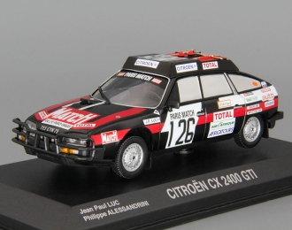 CITROEN CX 2400 GTI #126 Dakar Luc - Alessandri (1981), black