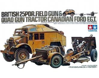 Сборная модель  Английский тягач с 25 фут.пушкой (25 Pdr. Field Gun & Quad Gun Tractor)