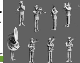 Сборная модель Парад Военный оркестр. Часть 2