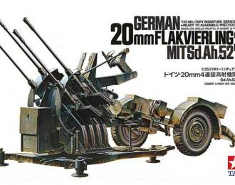 Сборная модель Четырехствольная зенитная 2 см пушка Flakvierling 38