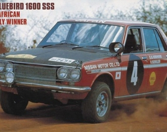 Сборная модель NISSAN BLUEBIRD 1600 SSS (1970 SAFARI RALLY WINNER)