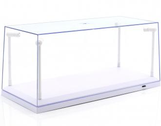 Бокс со светодиодной подсветкой для модели в масштабе 1:18 (белый подиум)