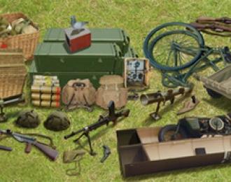 Сборная модель W.W.II British Airborne Weapon & Equipment Set