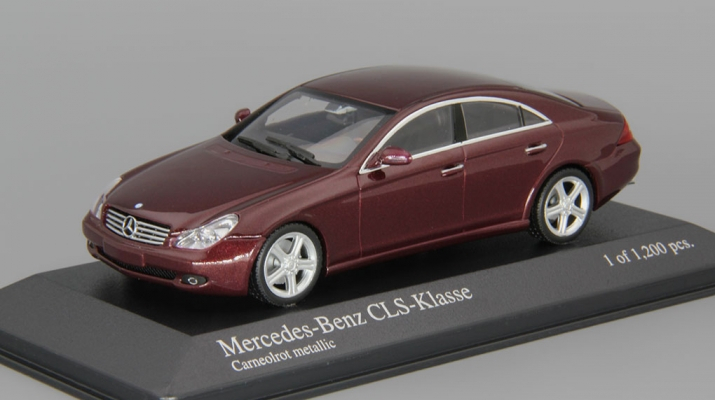 MERCEDES-BENZ CLS-Class C219 (2004), red metallic