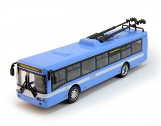 Троллейбус, голубой