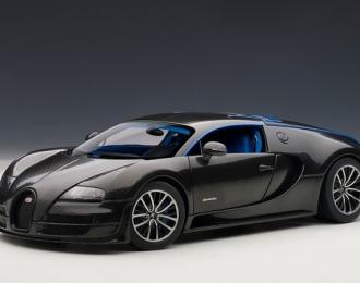 "BUGATTI Veyron 16.4 Super Sport, Edition Merveilleux ""Simon"", carbon black / light blue inter"
