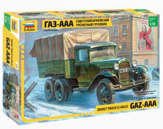 Сборная модель Советский армейский трехосный Горький-ААА