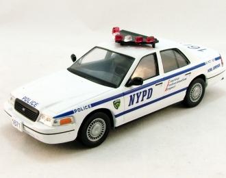 (Уценка!) FORD Crown Victoria New York Police, Полицейские Машины Мира 7, белый