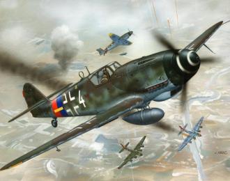 Сборная модель Немецкий истребитель Messerschmitt Bf.109