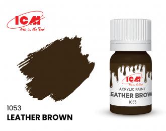 Краска для творчества, 12 мл, цвет Кожа коричневая(Leather Brown)