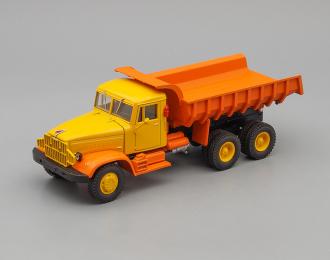 КРАЗ 222Б/256Б самосвал (1969), желто-оранжевый